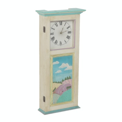 Hand Painted Battery Operated Decorative Wall Clock