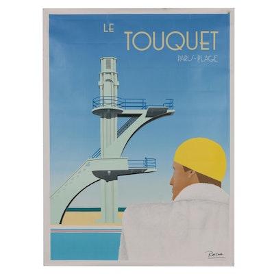 """Razzia Lithograph Poster """"Le Touquet"""", 1984"""