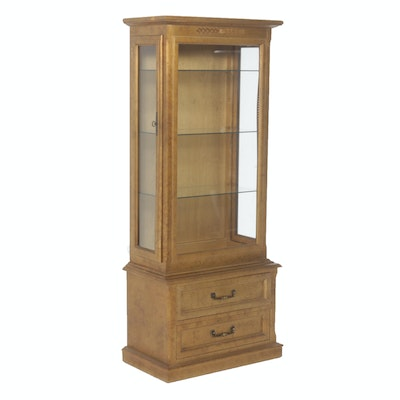 Sanford Furniture Co. French Provincial Display Cabinet, Mid-Century