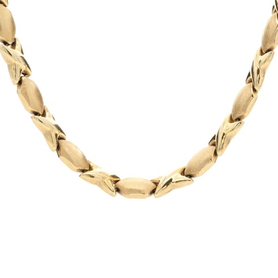 """14K Yellow Gold """"XO"""" Necklace"""