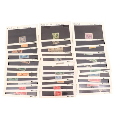 Thirty-four Better U.S. Postage Stamps, Late 19th to Early 20th Centuries