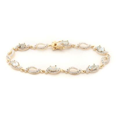 Sterling Silver Topaz Tennis Bracelet