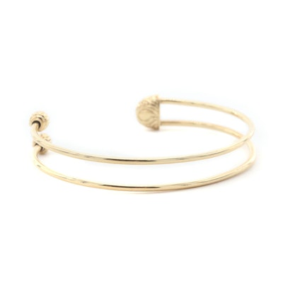 14K Yellow Gold Empty Slide Bracelet