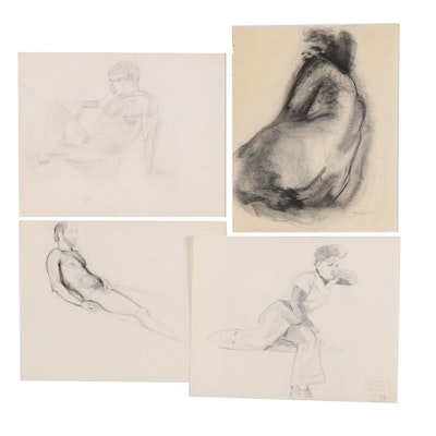 Ricardo Morin Charcoal and Graphite Figure Drawings
