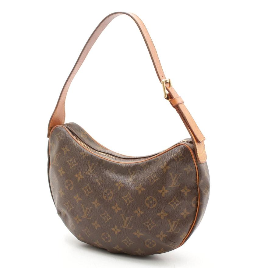Louis Vuitton Monogram Canvas Croissant MM Shoulder Bag Trimmed in Leather