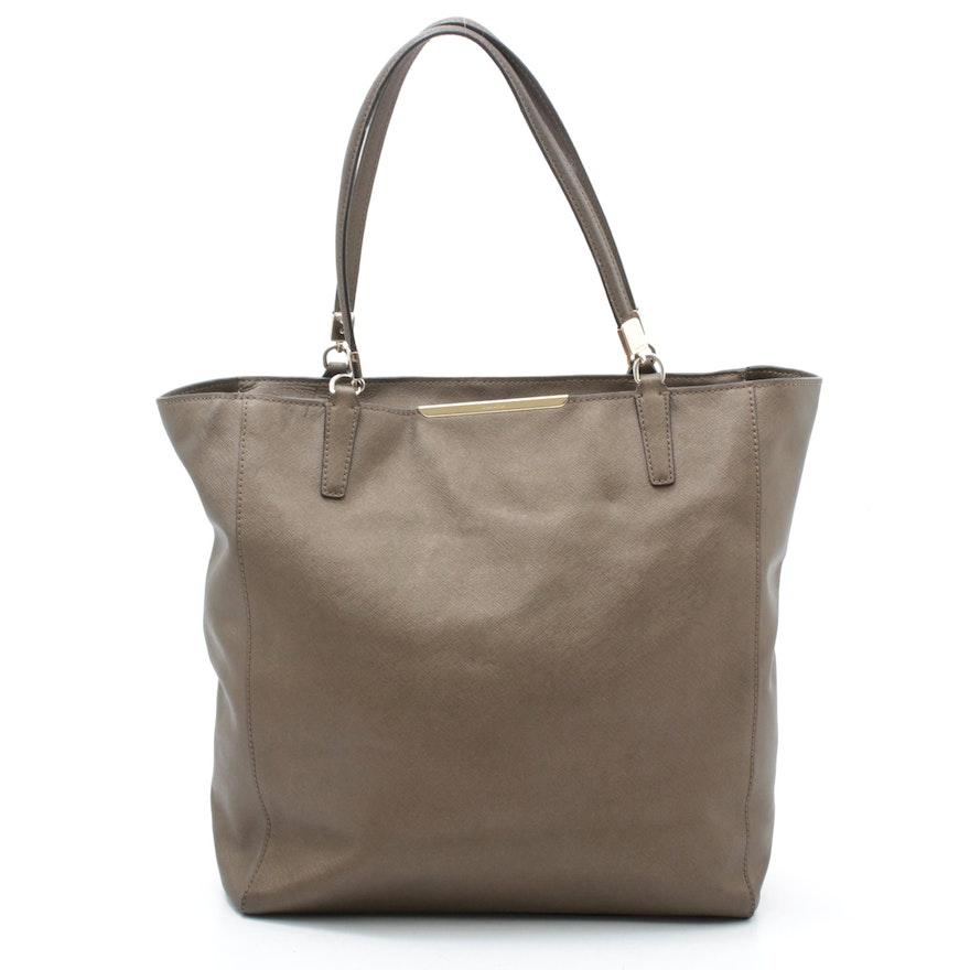 Coach Madison Bronze Metallic Saffiano Leather North South Tote Bag