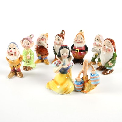 "Enesco for Walt Disney Productions ""Snow White and the Seven Dwarfs"" Figurines"