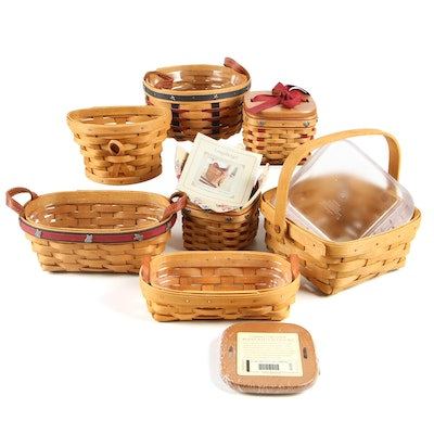 "Longaberger Baskets including Small Sweetest Gift ""Sweetheart"" Baskets"