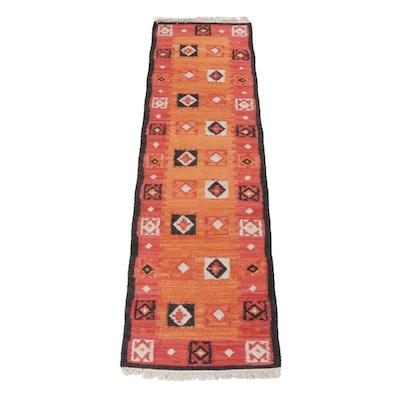 Handwoven Indo-Turkish Anatolian Kilim Carpet Runner