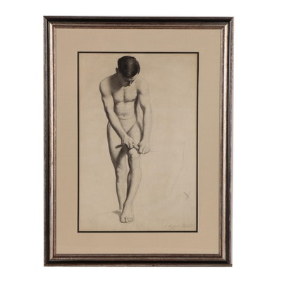 Sudduth Goff Charcoal Figure Study, 1911