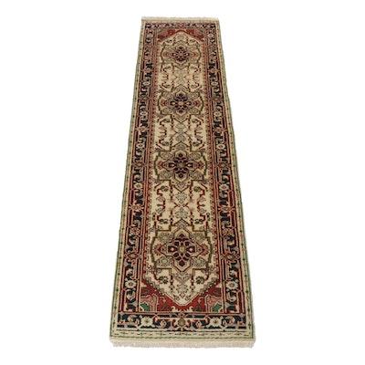 Hand-Knotted Indo-Persian Kazak Heriz Serapi Rug Runner