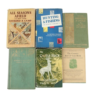 "Hunting Books including 1904 First Edition ""Guns, Ammunition, and Tackle"""