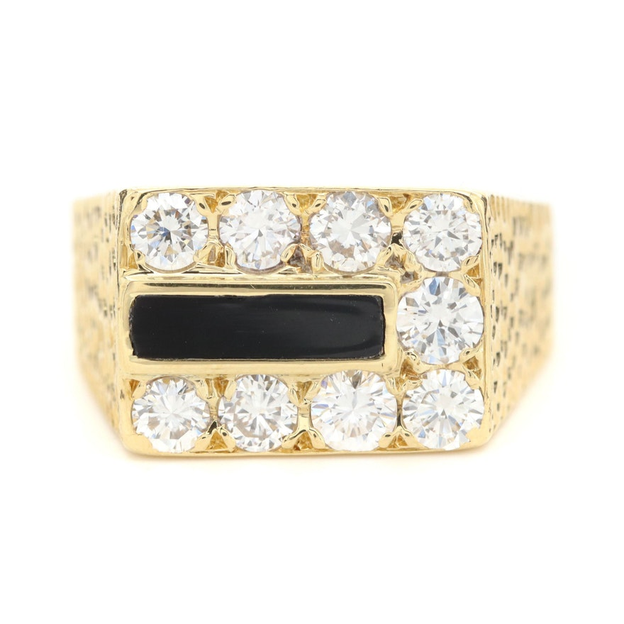 18K Yellow Gold 1.51 CTW Diamond Ring