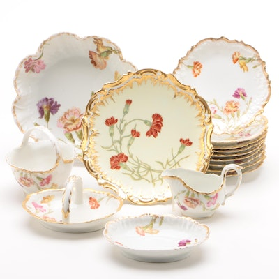 Tressmann & Vogt of Limoges Porcelain Dinnerware, Early 20th Century