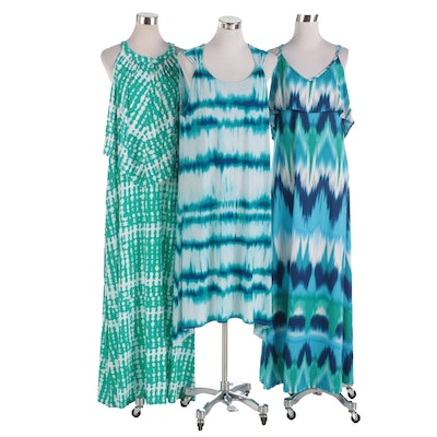 Chico's and J. Valdi Printed Sleeveless Dresses