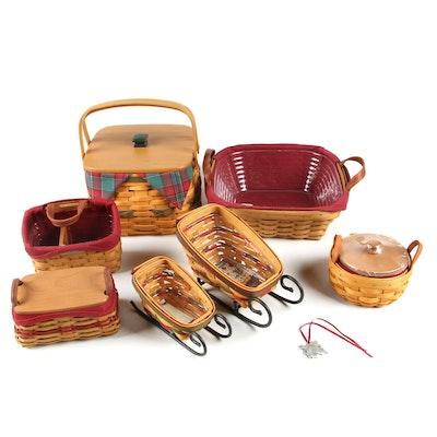 """Longaberger Holiday Baskets including 2000 """"Deck the Halls"""" Basket"""