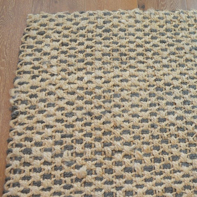 Hand Woven Jute and Fiber Area Rug