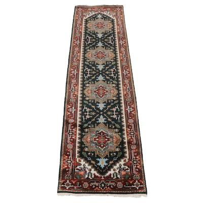 Hand-Knotted Persian Heriz Serapi Rug Runner