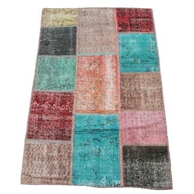 Handwoven Turkish Patchwork Wool Rug