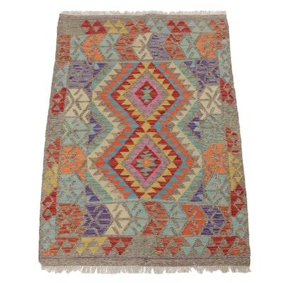 Handwoven Afghani Turkish Kilim Rug