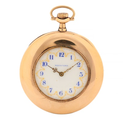 Antique Rockford Gold Filled Pocket Watch, 1910