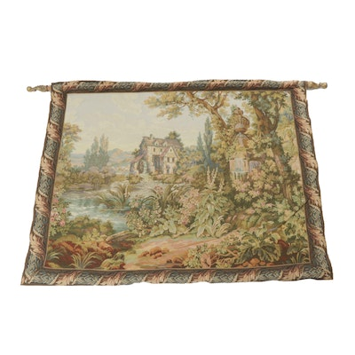 """Design Toscano Machine-Woven Tapestry after Boucher """"Le Vieux Moulin"""""""
