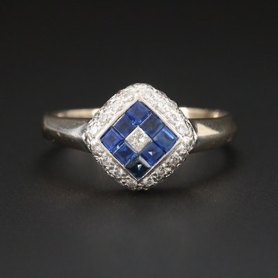 Le Vian 18K White Gold Diamond and Sapphire Ring