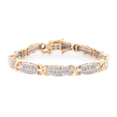 10K Yellow Gold 3.00 CTW Diamond Bracelet