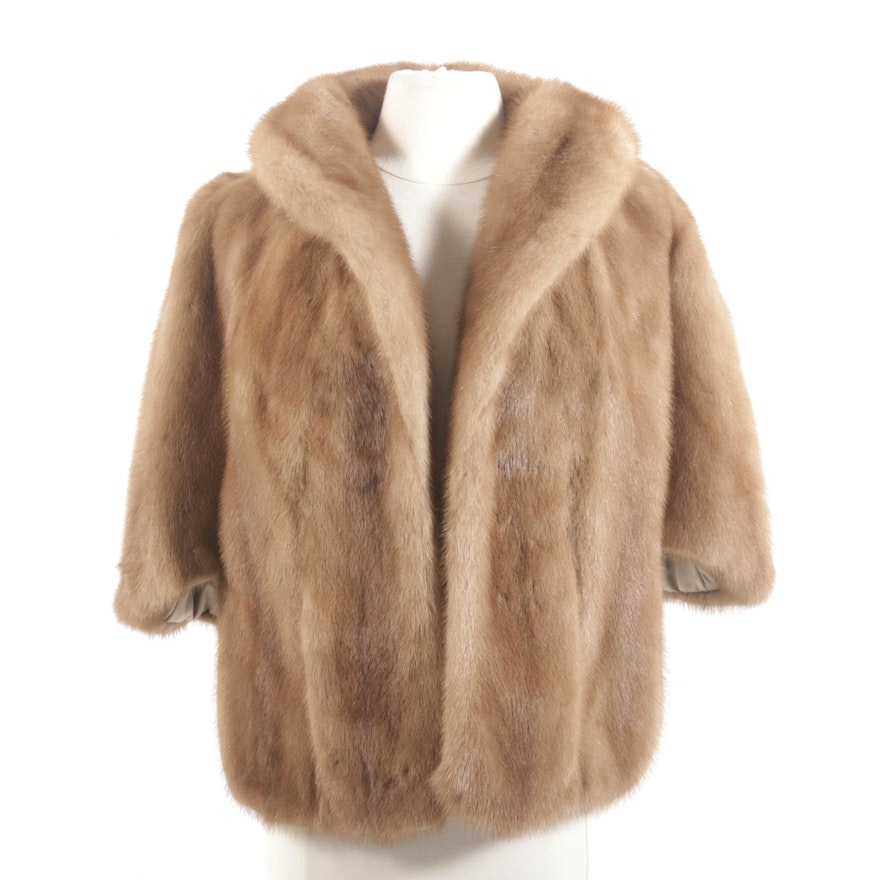 Pastel Mink Fur Stole from Embry's, Vintage