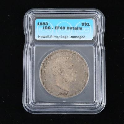 1883 ICG Graded Hawaiian Silver Dollar
