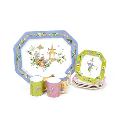 "The Essex Collection ""Good Fortune"" Chinoiserie Set by Joan Green"