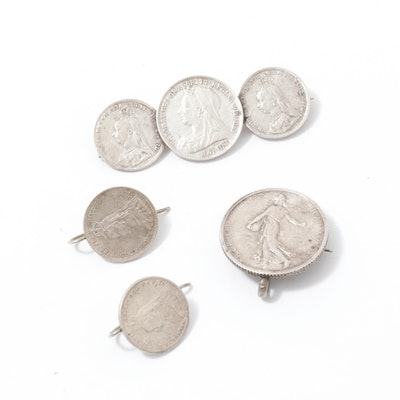 European Coinage Jewelry