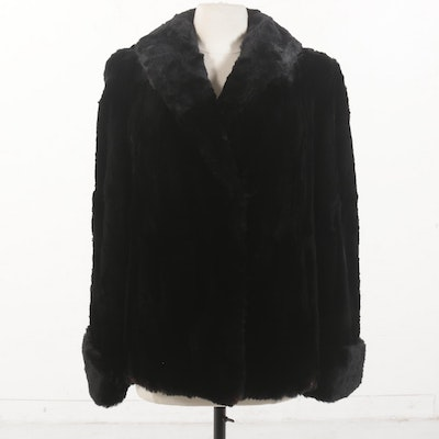 Vintage Sheared Rabbit Jacket