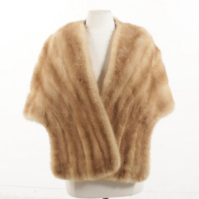 Vintage Blond Mink Fur Stole
