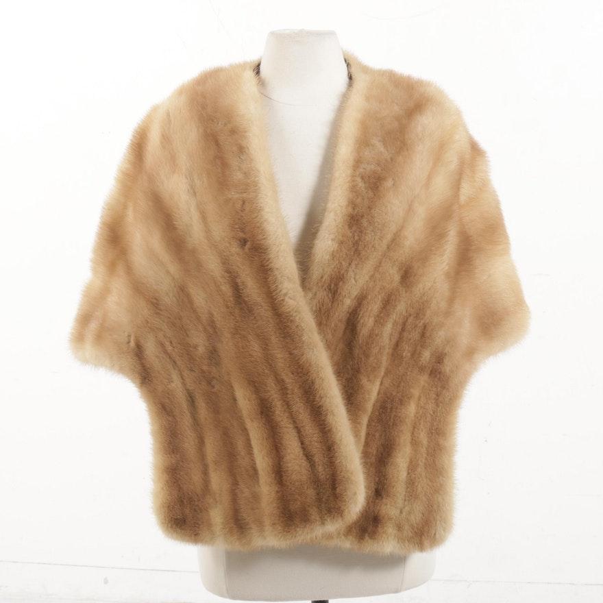 Blond Mink Fur Stole, Vintage