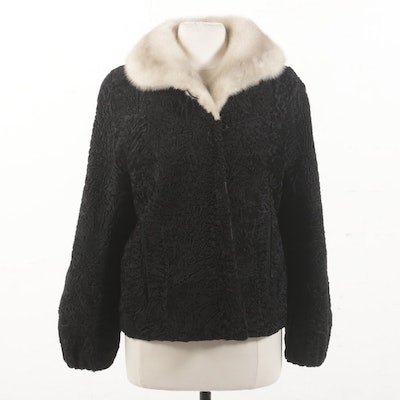 Vintage Persian Lamb and Mink Fur Jacket