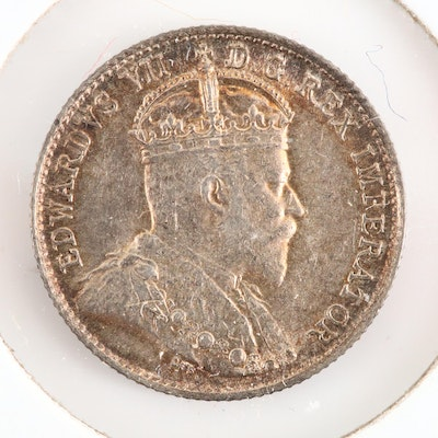 A 1905 Canadian 5-Cent Silver Coin