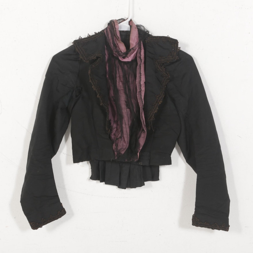 Late Victorian Women's Silk Dress Jacket