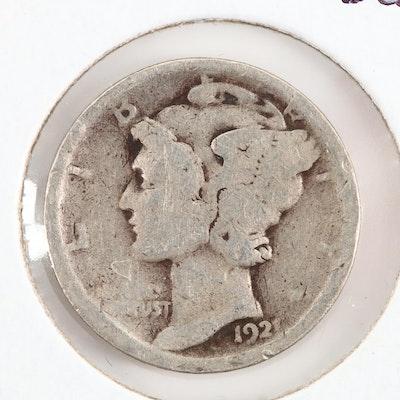 Key Date 1921 Mercury Silver Dime