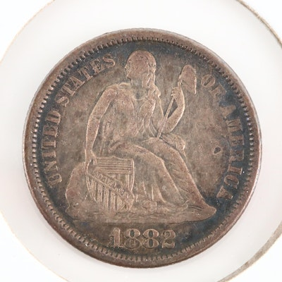 An 1882 Liberty Seated Silver Dime