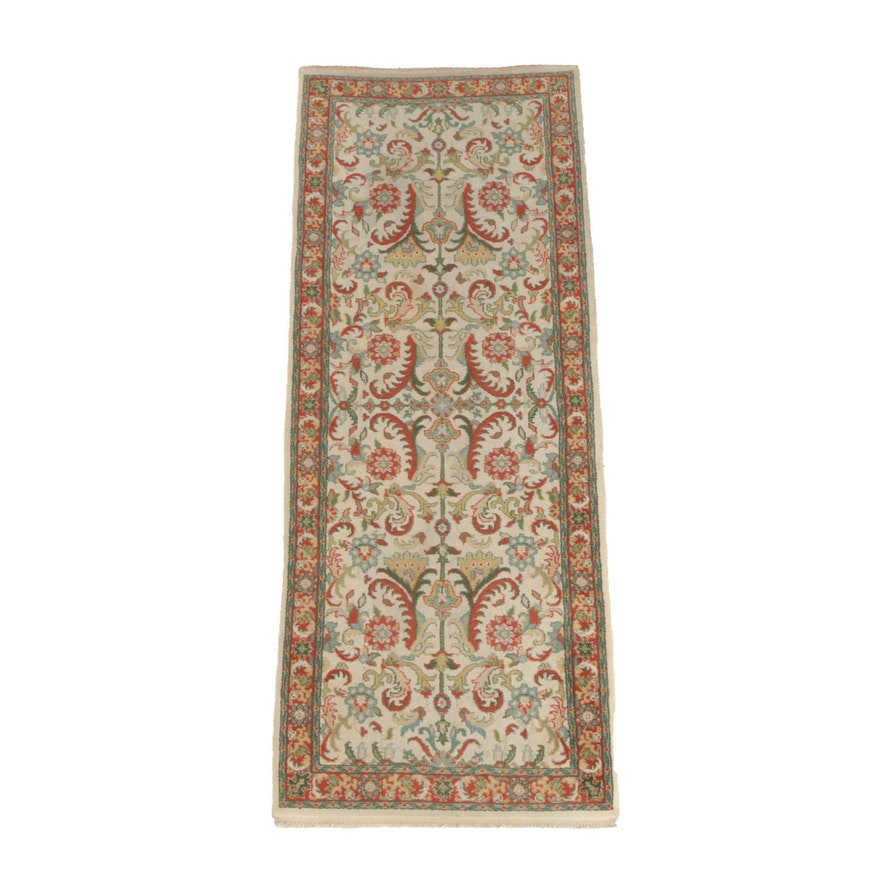 Hand-Knotted Indian Agrippa Wool Carpet Runner