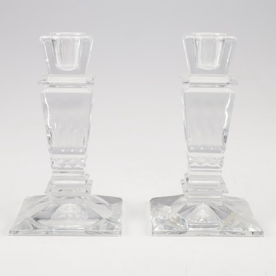 Godinger for Neiman Marcus Lead Crystal Candle Stick Holders