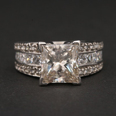 Platinum and 14K White Gold 3.78 CTW Diamond Ring