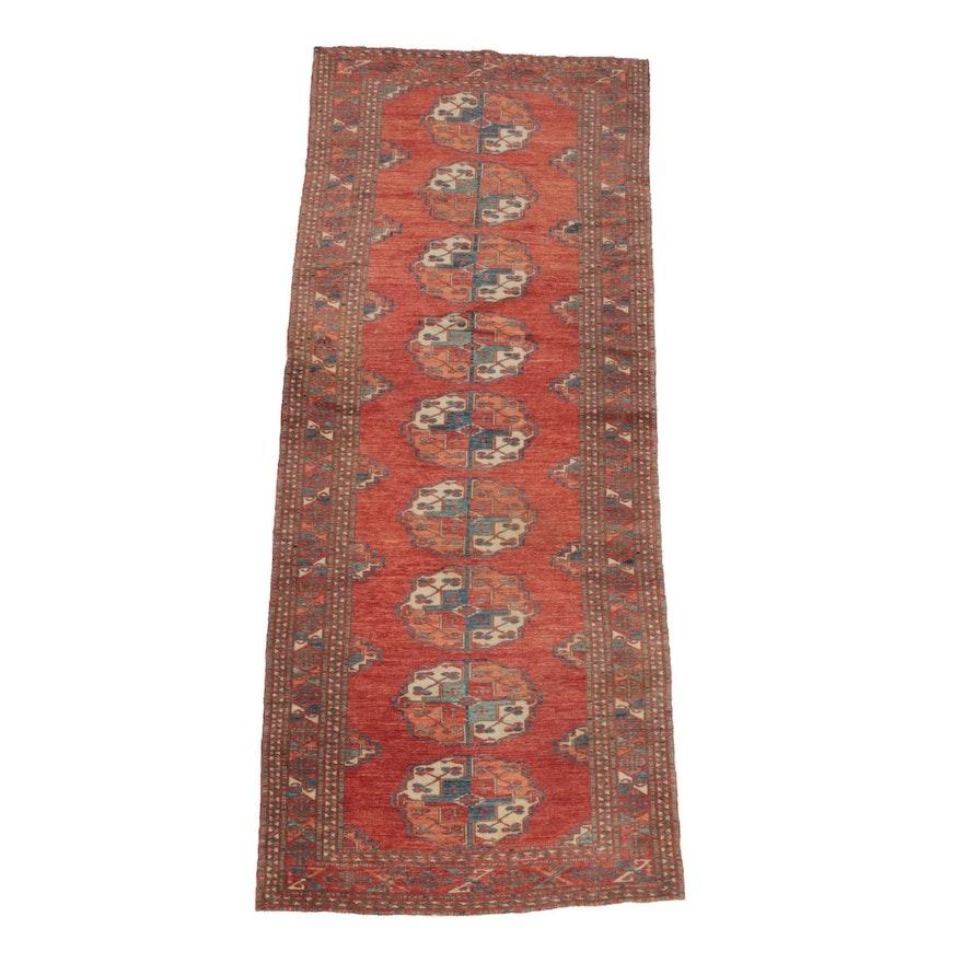 Hand-Knotted Afghan Ersari Wool Carpet Runner