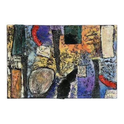 """Kenya Davis Abstract Mixed Media Painting """"Untitled #1"""""""