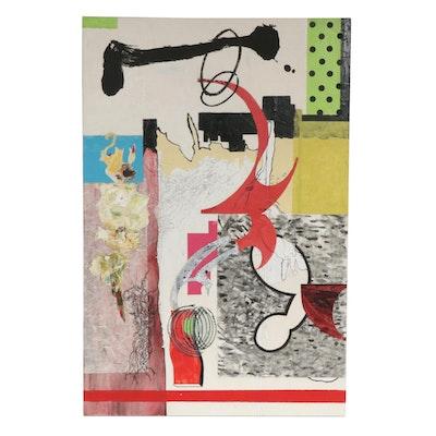 "Karen Snouffer Mixed Media Painting ""Hooked"""