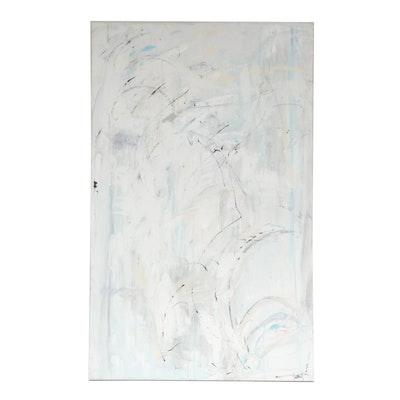 """Nancy Lambert Mixed Media Painting """"White Water"""""""