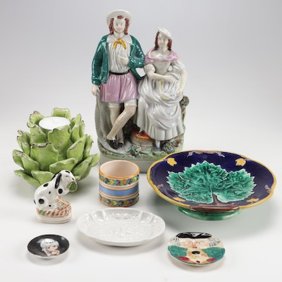 Staffordshire, Mottahedeh Design and Other Figurines and Table Accessories