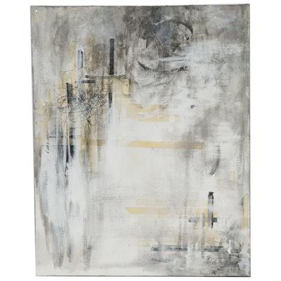 """Nadia Lynch Mixed Media Painting """"Commotion""""."""