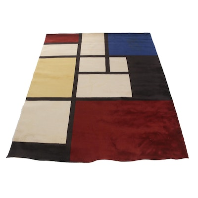Tufted and Sculpted Color Block Area Rug